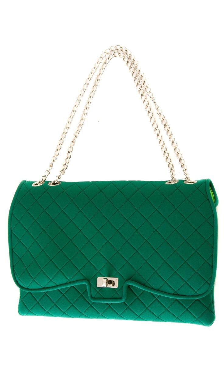 Leghilà green butterfly matelassé crossbody #bag composition: neoprene