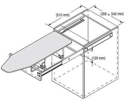 Las 25 mejores ideas sobre almacenamiento de tabla de for Mesa planchar plegable