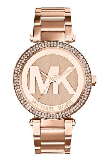MICHAEL Michael Kors Michael Kors 'Parker' Logo Dial Bracelet Watch, 39mm available at #Nordstrom