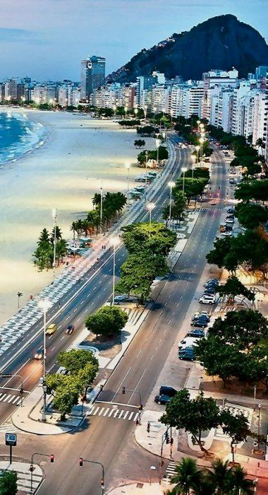 Copacabana, Rio de Janeiro, Brazil  I have walked these streets. My life has been pretty exciting I must say. (Taken from: http://click2xscape.com)