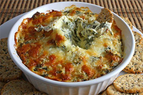 Spinach artichoke dip and many other delicius dips :)