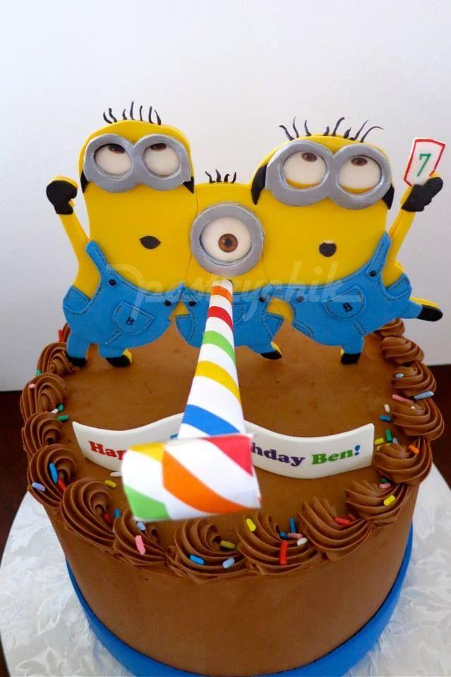 Minion cake. Photo only.