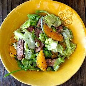 Sesame Orange Steak Salad