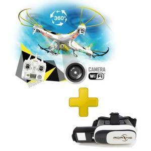 PACK Ultra Drone x31.0 avec Caméra et WIFI + Casque de Réalité Virtuelle VrGlasses