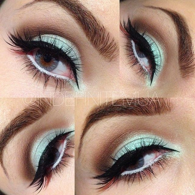 Sky blue eyeshadow look