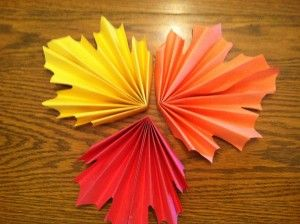 Make a paper leaf this year using brown, yellow, orange, or yellow construction paper!