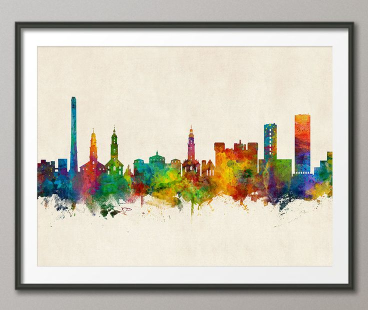 Erlangen Skyline, Erlangen Germany Cityscape Art Print (3523) by artPause on Etsy