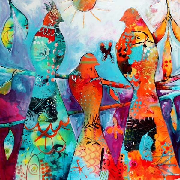 2014 Artwork | Tracy Verdugo Art The Gathering Free. sold.