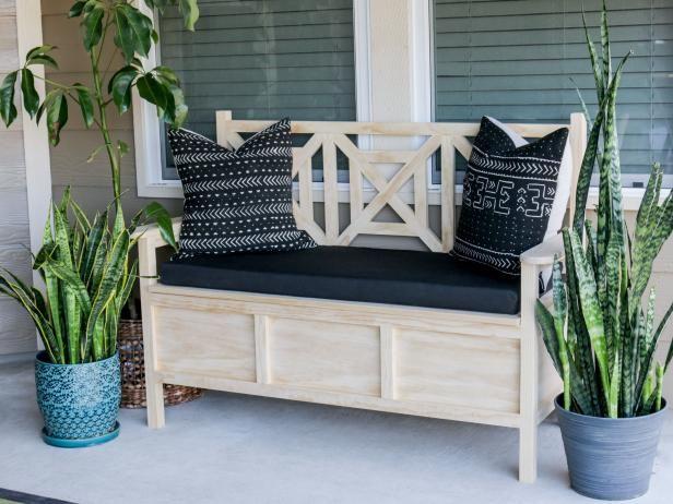 DIY Outdoor Storage Bench