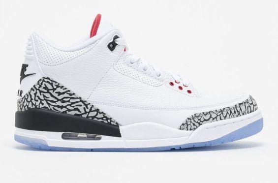 Release Reminder: Air Jordan 3 White Cement NRG (Free Throw Line)