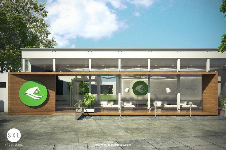 Diseño de sala de ventas para promoción inmobiliaria, diseño realizado por el equipo de S-XL Arquitectos