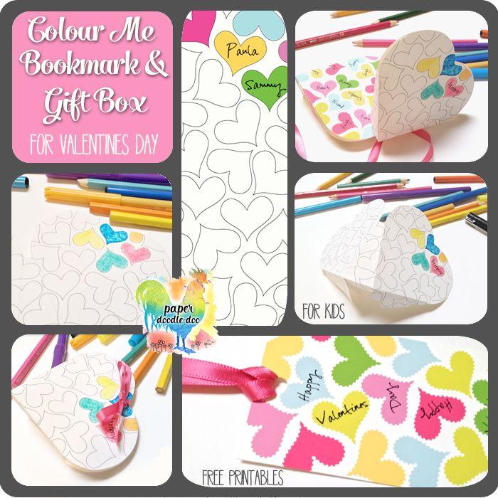 Free Colour Me valentine printables at Paper Doodle Doo.