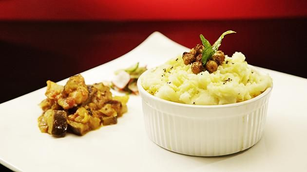 Spicy Lamb Pot Pie with Coconut Mashed Potatoes
