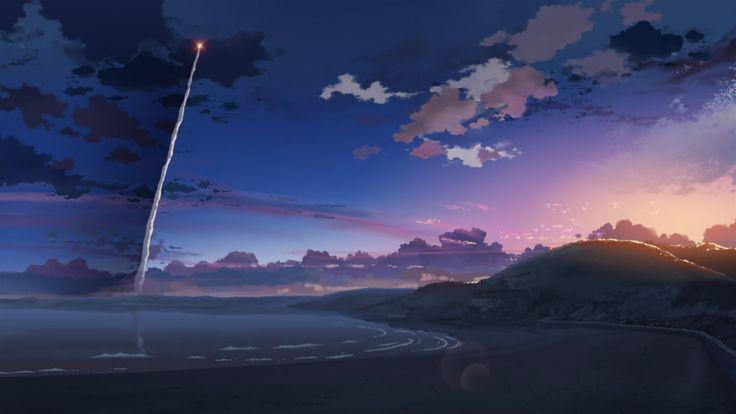 Image, Makoto Shinkai, 5 centimètres par seconde, la fusée, 1920x1080