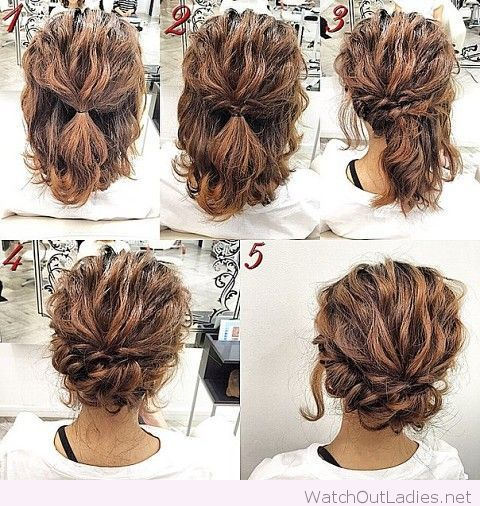 Admirable 1000 Ideas About Curly Hair Tutorial On Pinterest Hair Romance Hairstyles For Women Draintrainus