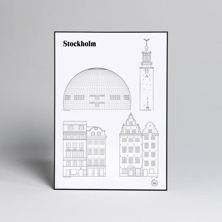 Studio Esinam Stockholm Landmark Poster