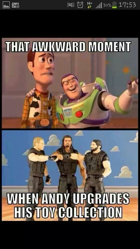 """Action-Figure"" Shield. Then they become friends when Woody pushes Seth out the window out of jealously, lol"