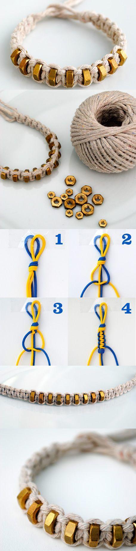 Anleitung zum Armband knüpfen Stickgarn gibt es hier in verschiedenen Farben. Source: tech.beads.us