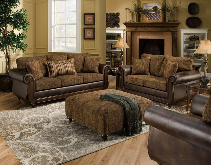 Chelsea Home Oneida Sofa Set And Ottoman Isle