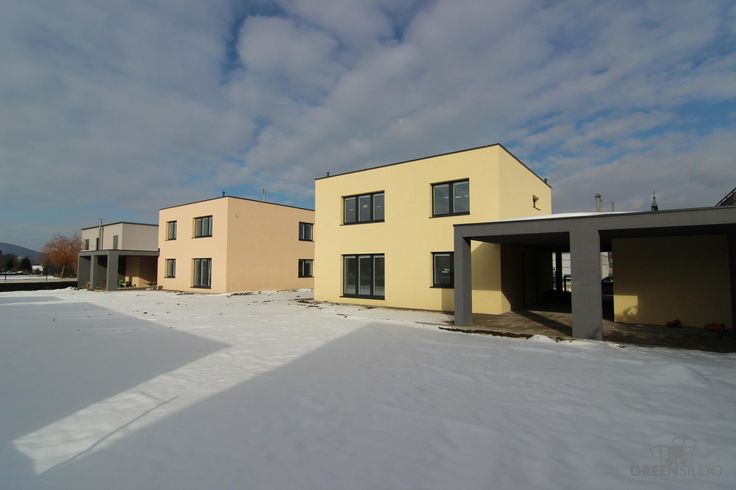 Tri nízkoenergetické domy vo Wolfsthale