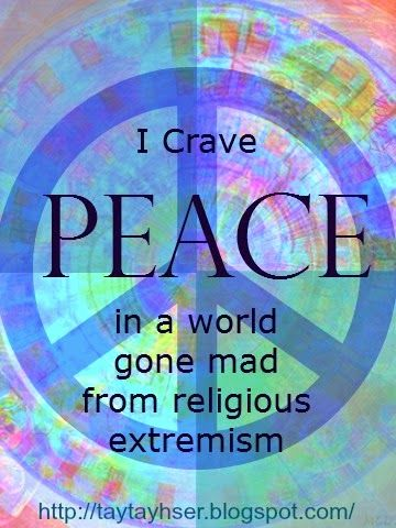My Own Mind:  Homeschool Atheist Momma: We Want Peace!:  I don't know the right thing to do. I have no idea what the president or any leader should do. All I know is that the kids and I fervently crave peace in this world that is driven mad by religious extremism.