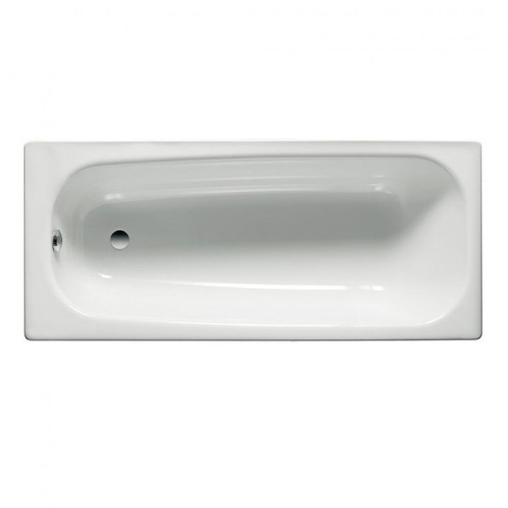 Roca Contesa Steel Bath 1500 x 700mm - 2 Tap Holes