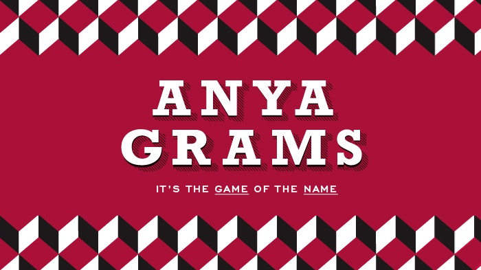 Anyagrams, the name of the game