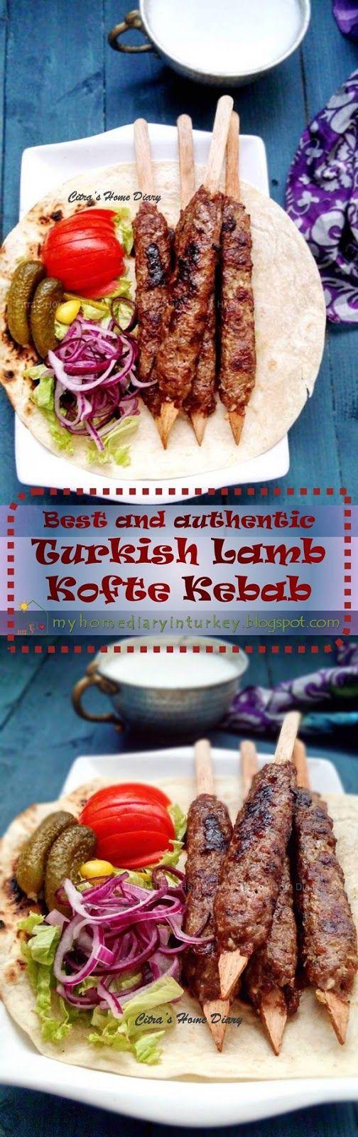 Köfte Kebabı / Turkish lamb Kofta (meatball) Kebab, authentic and best recipe. Köfte or Kofta is definitely everyone's number one favorite here. As kebab, köfte is like staple and almost everyday meal for local. Men women adult to toddler. And just like kebab, köfte has many variant base on meat used and its origin. | Çitra's Home Diary. #kofte #lambkofta #lambkebab #turkishfood #resepkoftekhasturki #meatball #midleeast #grilled #groundmeat #resepkhasturki