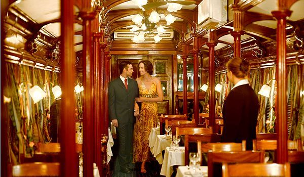 Rovos Rail    [Africa]    Founded in 1989, Rovos Rail offers a variety of itineraries around South Africa and neighboring countries, aboard two restored classic trains.