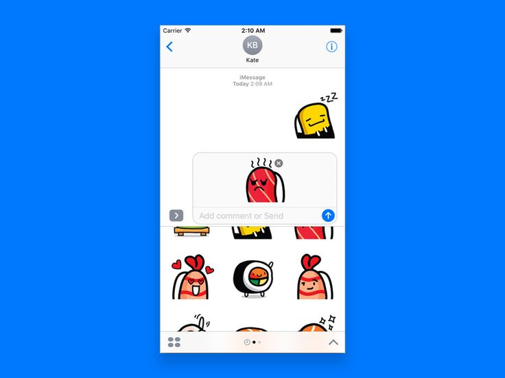 Sushi Land Stickers Pack for iMessage iMessage App