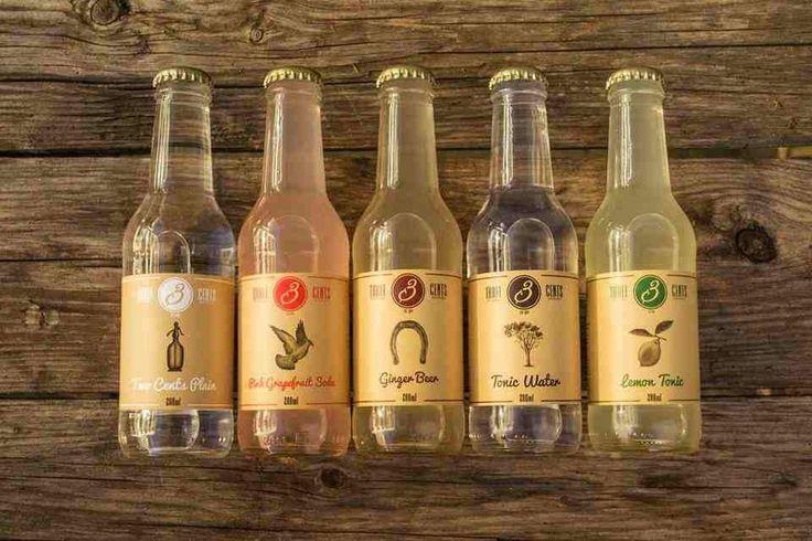 Three Cents Premium Beverages Grapefruit soda, Ginger Beer, Tonic , Soda, Lemon Tonic