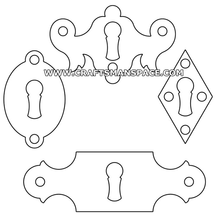 Keyhole escutcheon cover patterns 2