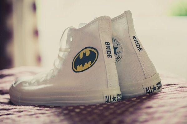 Batman Converse bridal shoes. I can't help that Batman makes me think of Ben! lol