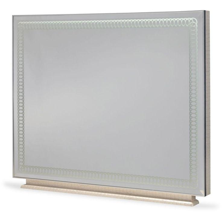Hollywood Swank Upholstered Dresser Mirror