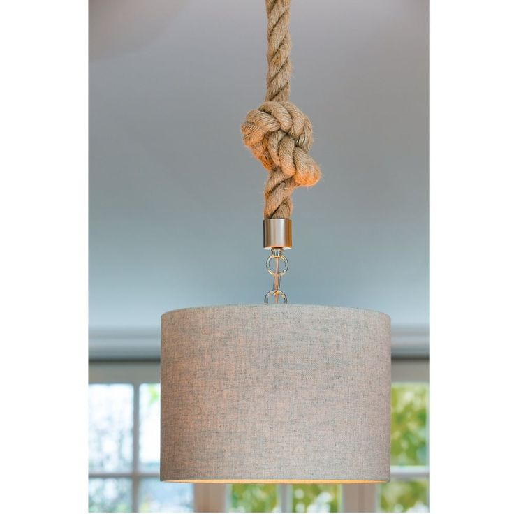Light & Living Gilmar Rope Pendant Fitting - Lounge And Hallway Lighting from Dusk Lighting UK