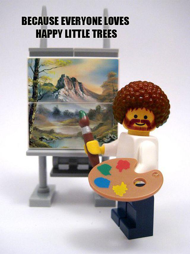 Happy, happy little trees...
