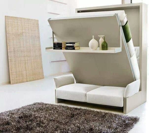 Murphy bed with couch.
