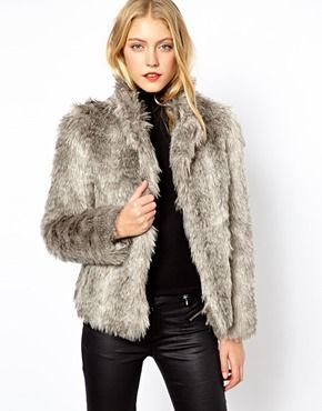 15 best Coats images on Pinterest | Leather coats, Fur collars and ...