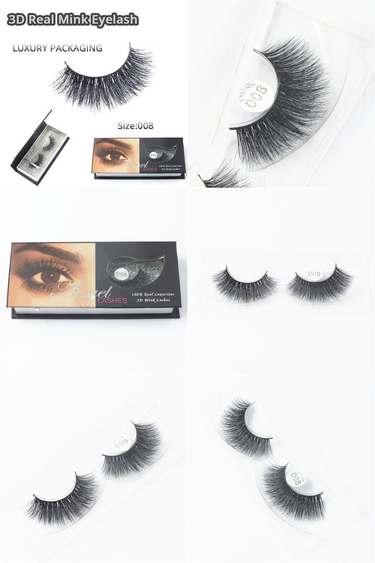 [Visit to Buy] Wholesale Natural 3D 100% Real Mink False Eye Lashes/ Permanent Mink Fake Eyelashes Extensions For Makeup Free Shipping M008 #Advertisement