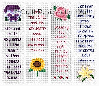 Flowers of Faith Bookmark Collection -- Make one for Cassie?