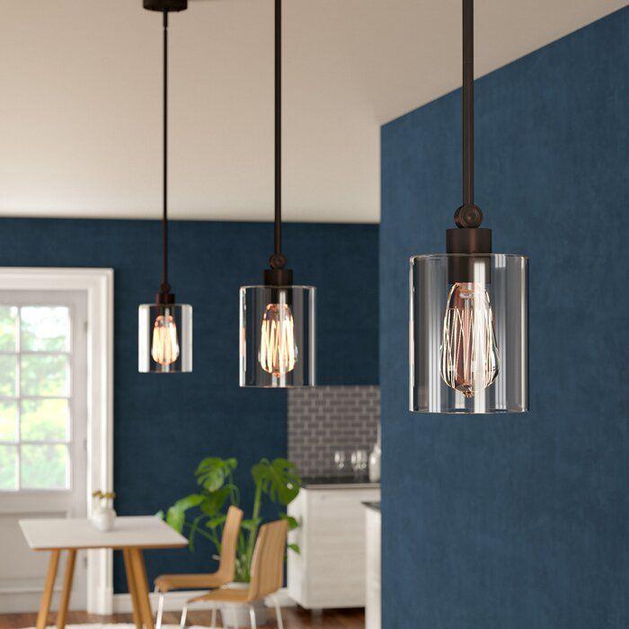 Rylan 1 Light Single Cylinder Pendant Kitchen Pendant Lighting Kitchen Pendants Pendant Lighting