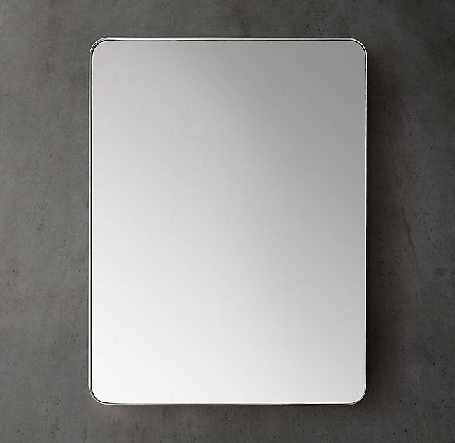 ($850) Bristol Flat Mirror 24 x 36 Aged Brass