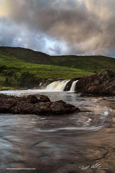 Aasleagh Falls, Leenane, Co. Galway, Ireland.                                                                                                                                                                                 More