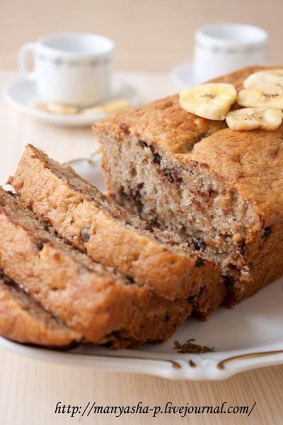 Шоколадно-банановый хлеб