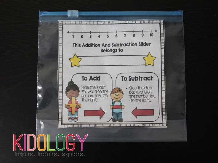 Addition and Subtraction Sandwich Bag Sliders! Great math tool!