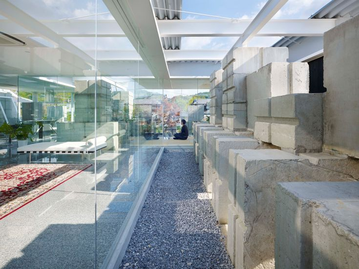 naf architect & design: glass house for diverFields Day, Architecture Inspiration, Concrete Block, Naf Architects, Architecture Spaces, Landscapes Architecture, Glass Houses, Glasses House, Amazing Glasses