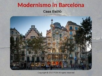 Use this Spanish cultural lesson to introduce el modernismo, a very popular architectural trend in Spain to your students. Let them experience Spanish culture! #ThursdayThoughts