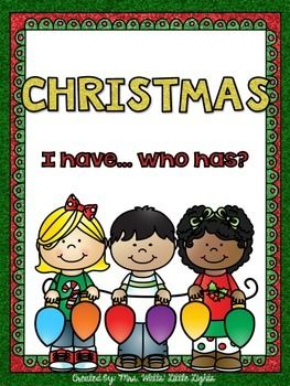 Christmas Themed - I Have ... Who Has? *28 big cards and answer key*This colourful, interactive game is great way to celebrate Christmas in your classroom! You may also be interested in: Christmas Literacy and Math PrintablesChristmas Literacy Center - CVC WordsChristmas Bingo Dauber Printables - Numbers 1-20Christmas Emergent Readers (3 Readers)Christmas Bingo (words, pictures, numbers)FREE Christmas WordsMerry Christmas!!