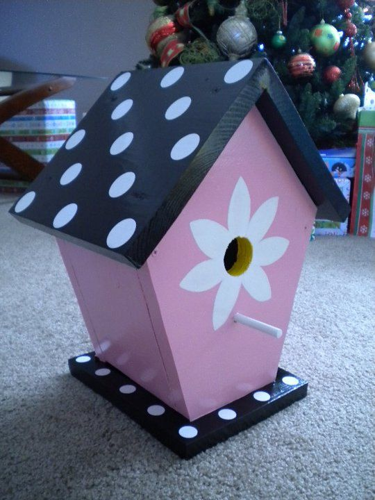 Colorful painted birdhouse by TheTurkeyLurkey on Etsy, $40.00                                                                                                                                                      More