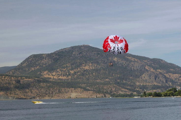 Parasailed on the Okanagan lake in Penticton/Kelowna area in BC Canada